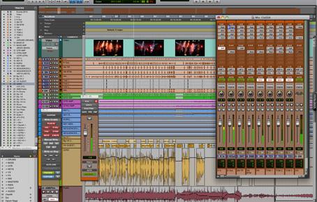 Edition mixage Protools sur place ou dans notre studio